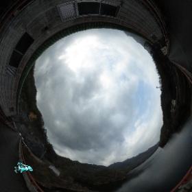 小瀬川ダムの天端でミクシータ。 #miku360 #theta360