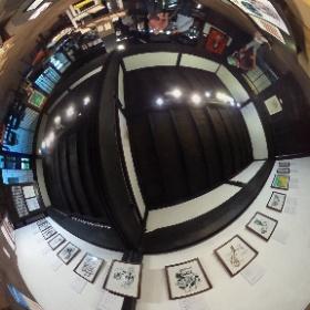 2016年6月4,5,11,12,17,18,24,26日、埼玉県比企郡滑川町の古民家ギャラリーかぐやで開催の『ささやかながら「平和と表現」展』にて、絵本「新・戦争のつくりかた」原画展示の様子。 #theta360