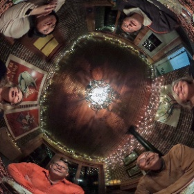 Guests at dinner in a full 360 degree VR #theta360