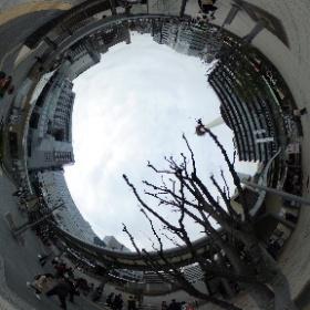 サンダーバードて京都に着く直前に隣の席に知り合い発見。ということで、記念撮影。 #sakura3d THETAgrapher No.218 #THETAgrapher  #theta360contest #theta360