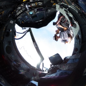 National Aviation Hall of Fame member Patty Wagstaff flew this Short built Tucano at the Dayton Air Show. #theta360