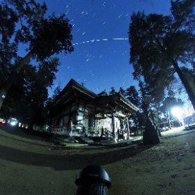 そうだ、theta360にもアップしとこう! 大宮住吉神社と国際宇宙ステーション #theta360