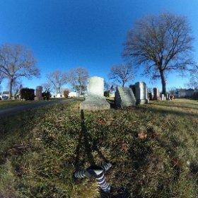 Grave of Otto Plath. Winthrop Cemetery, Winthrop,  Massachusetts.  #sylviaplath #ottoplath #theta360