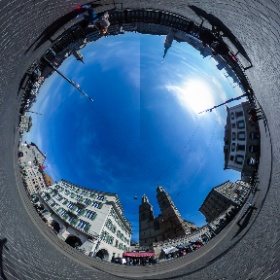 Zurich Old Town Grossmuenster Switzerland #theta360
