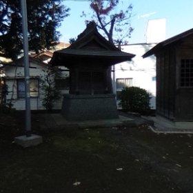 第六天社(横浜市鶴見区上の宮)。 #theta360