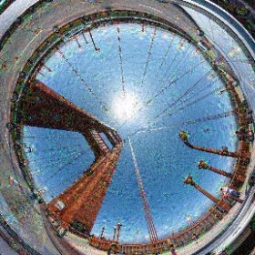 Crossing the Golden Gate Bridge deep inside #deepdream. Photo taken by @cris_miranda1 and deep dream processing done by @jamesblaha.  #theta360