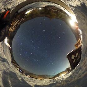 白川郷で見た星空(1) #theta360