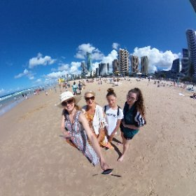 Fun in the sun at Surfers Paradise, Gold Coast. #theta360 #theta360uk