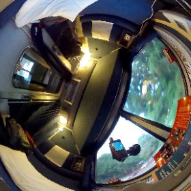 In side my roomette on Amtrak's Auto Train.  #theta360
