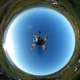 Arial view over Kvilhaug, Karmøy, Norway. Shot with Ricoh Theta S hanging upside down under a drone.  #visitnorway #noruega #norway #westcoast #ocean #oceanwatchermedia #sunset #theta360 #photosphere #360degree