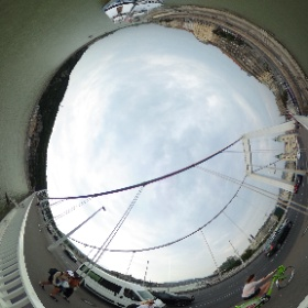 From the chain bridge in #Budapest, on the river #Danube #theta360