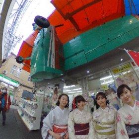 撮影をお願いしちゃった!(京都) Facebook OK! だって・・ #theta360