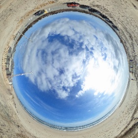 The new view at #nausetbeach on #capecod after the demolition of #Liams Snack Bar. #theta360