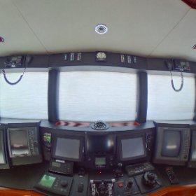 360 view 87' Oceanfast Nav Station Helm. Lovethatyacht.com #theta360