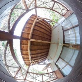 登米森林公園 コテージのベランダ
