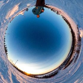 Aussicht über Malå, Schwedisch Lappland mit der Ricoh Theta S und www.FlorianGerla.ch #theta360 #theta360de