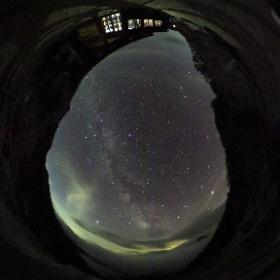 大天井ヒュッテで見た星空 #theta360