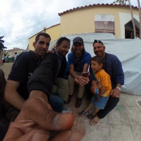 Making new friends on Chios Island! Connecting the dots... celebrate peace and freedom, appreciate the important things in Life! #syrianrefugees #360 #theta360