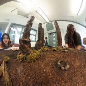 Inside the Stop Frame Animation set..  @lcabaan @leedscofart #theta360uk