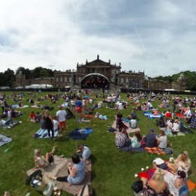 WENTWORTH MUSIC FESTIVAL: Great atmosphere as fans gather for first Wentworth Music Festival set against backdrop of spectacular Wentworth Woodhouse stately home on Rotherham-Barnsley border. #theta360 #theta360uk
