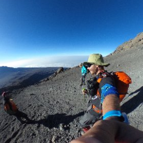 Time to descend! Nothing like glissading a scree field at 18,000 feet! #theta360 #kilimanjaro