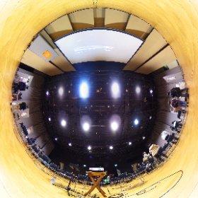 小金井 宮地楽器ホール(小ホール)「小金井で起業した8人のものがたり」展。2015/11/18 トークイベント間の歓談時間に(^_^) 360.kudo.gr.jp #Koganei #Tokyo #Japan #RICHOH #THETA #360 #Panorama #小金井市 #小金井 #theta360