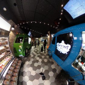 Take in the new Food Truck Alley at MSP Airport in this 360 degree view. The new concept on Concourse E will feature three dining options: Salty Tart, Holy Land, and Red Cow.
