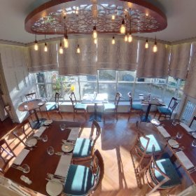 The Conservatory, Grassington House. An award-winning restaurant with rooms in the heart of the Yorkshire Dales. #restaurant #rooms #hotel #grassington #yorkshiredales #thedales #theta360 #theta360uk