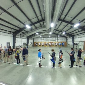 Archery - #IndoorNationals #USAArchery 9am CD line, compounds  #theta360