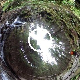 Wasserfall in Nahaufnahme