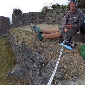 Just hanging out at Machu Picchu Looking a touch tired. #theta360