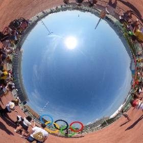 #Rio2016 #バーラ地区 #撮影スポーツに長蛇の列 #theta360