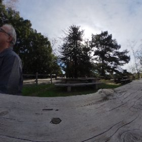 I took this photo at El Capitan park. A good portion of the Park washed away last night in heavy rain. It was on the local TV news in Santa Maria, California today, January 20, 2017. #theta360