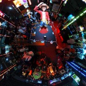 Un peu de #onepiece  pour les fans avec #Luffy plus vrai que nature au #TokyoGameShow 2019 ! #theta360 #theta360fr
