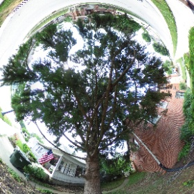 Front of hascall home. #theta360
