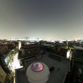 새벽 옥상  #theta360