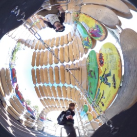 #skateboarding outside the #exploratorium along the embarcadero in SF.  #theta360