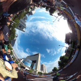 SAITAMA Criterium taken by THETA 360 degree. (not 3D)
