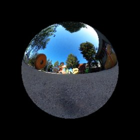 An ant's-eye view of the Android statue garden.  #theta360