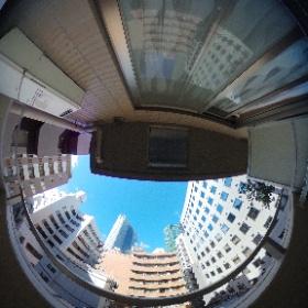 La vista desde el balcón del lugar donde nos estamos quedando en Ginza #JaponATB Haciendo algunas pruebas con fotos en 360.