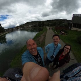 Lunch with the team at #instcon #theta360