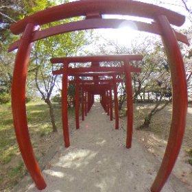 佐賀県小城公園内烏森稲荷神社 #theta360