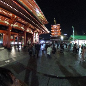 20180107 Asakusa Senso Temple #theta360