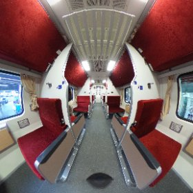 Inside the 2nd Class carriage on the sleeper train to Chiang Mai #Thailand