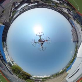 クワッドコプターにシータをぶら下げて撮ってみました。 #theta360