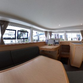 2017 Lagoon 42 - TANGLED SHEETS for sale with Just Catamarans.  Salon and Galley