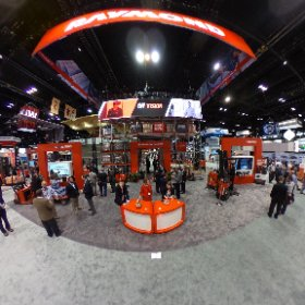 The Raymond booth at Promat in Chicago. #theta360