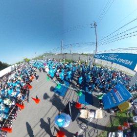 軽井沢ハーフマラソン2017、スタート時の360度画像です(^^)ご覧ください! #theta360