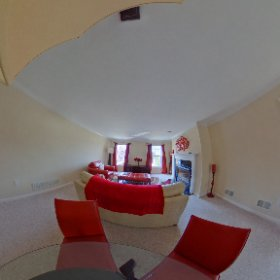 living room from stairs #theta360