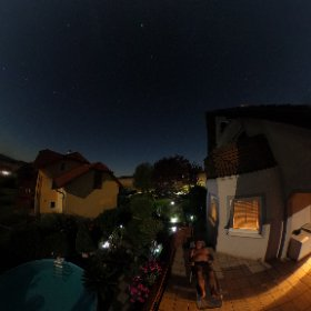 """sunbath"" at midnight #theta360 #theta360de"
